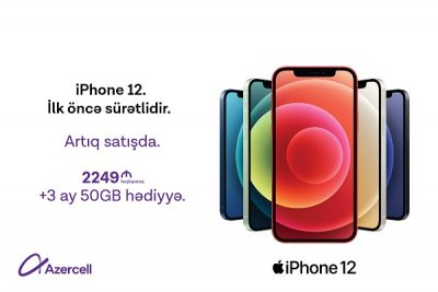 azercell, azercell telekom, iphone 12, iphone 12 pro