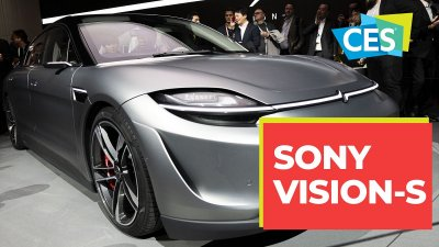 sony vision-s, sony new car, sony electrocar, sony ces 2020, sony yeni masini, sony vision s masini
